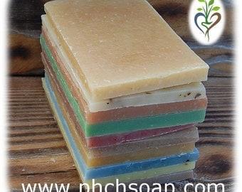 Soap Sampler -  8 oz - 10 Different Scented Soap Bars