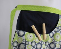 Bag to store pins to laundry, utility apron, original gift for wife. Tote bag, bag size.