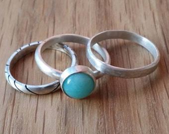 Set Amazonite Ring » Sterling Silver