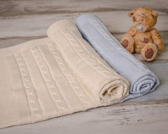 Baby Blanket OEKO-TEX,Summer Baby Blanket, Knitt Blanket for Baby,Cream Baby Blanket,BabyBlankets,Newborn Blankets,Blanket for Baby,Babygift