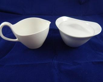 Vintage Melamine Oneida  Sugar Bowl and Creamer