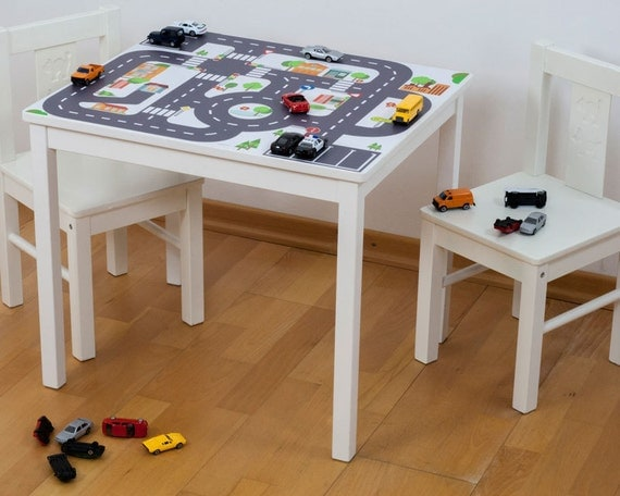 play mat for cars furniture sticker small city. Black Bedroom Furniture Sets. Home Design Ideas