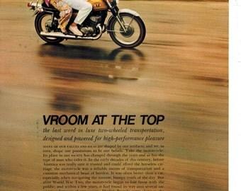 Vintage Print Ad 1969 : Suzuki 500 Motorcycle Art Print