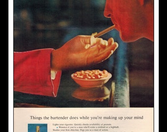 "Vintage Print Ad May 1962 : CC Canadian Club Whisky Liquor Wall Art Decor 8.5"" x 11"" Advertisement"
