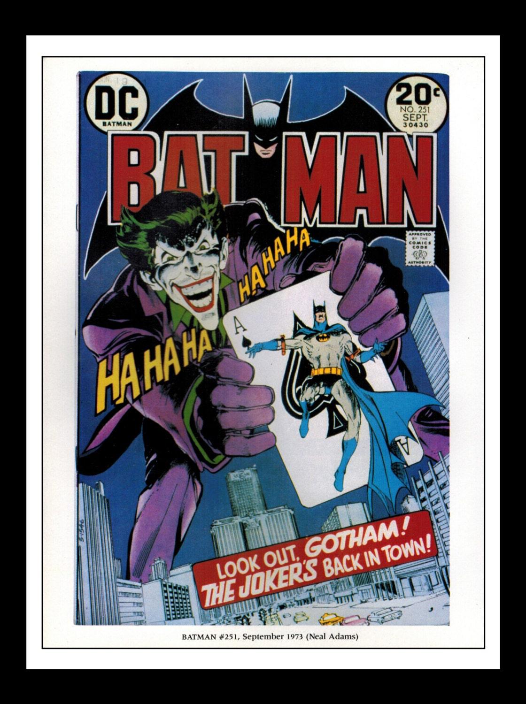 Classic Comic Book Cover Prints ~ Vintage print ad comic book cover batman joker