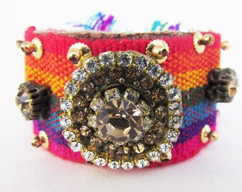 Handmade Crochet Bracelet w/ Magnetic Clasp