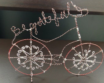 Bicycle Inspirational Wire Art