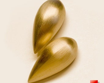 18K Gold Raindrop Stud Earrings, 14K Gold Raindrop Stud Earrings, 14K Solid Gold 18K Earrings, Best Gifts for Women, Girls Birthay Gifts
