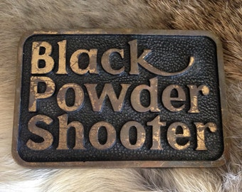 Black Powder Shooter Belt Buckle