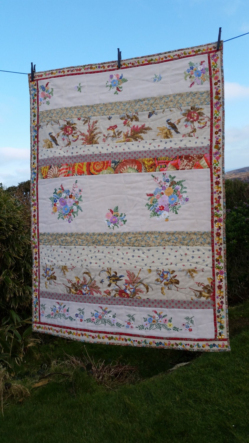 Vintage Baby Patchwork Quilt With Panels Of By