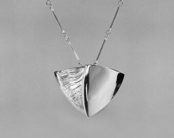 Silver pendant, Sky Mirror
