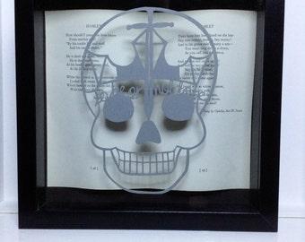 Hamlet William Shakespeare - framed papercutting - book lovers gift