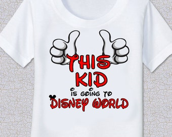 This Kid is going to Disney Vacation Tshirt Shirt