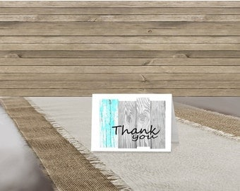 blank rustic thank you cards with envelopes