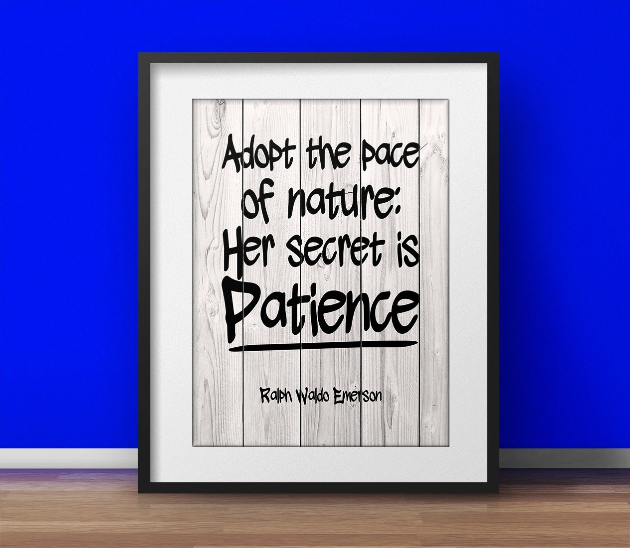 poster, Nature quote, Zen