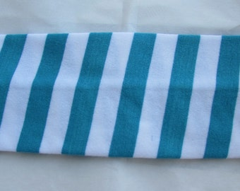 Blue Striped Hair Band Cotton And Spandex Young Girls Headband Hair Accessories Stretchy Headband Hair Scrunchie Girls Bandana Hair Tie