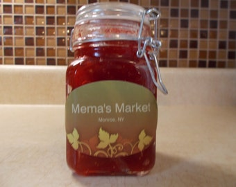 All natural. Home made, strawberry jam.