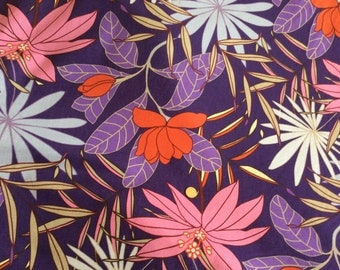 Stunning heavy purple cotton fabric, manuacturer unknown