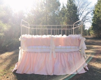 Crib Bedding Girl - Baby Girl Bedding - Girl Crib Bedding - Pink Crib Bedding - Nursery Decor - Pink Baby Bedding - Crib Bedding Girl Set
