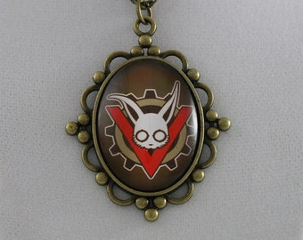 """The Velveteen Band: """"Rabbit V Gear"""" - Cameo Necklace"""