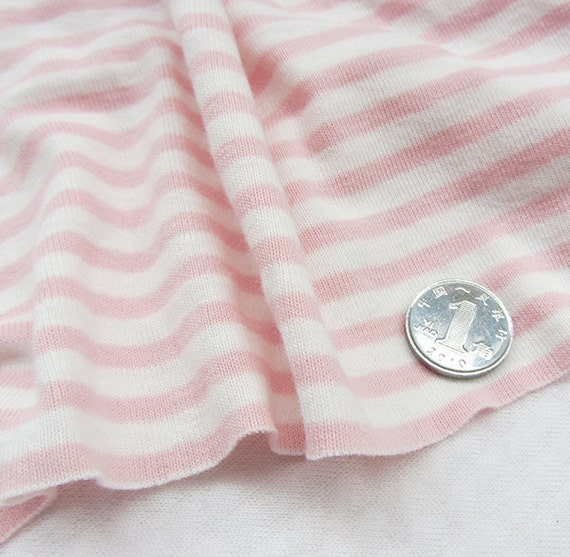 Kids baby print rib knit fabric 100 cotton pink and white for Knit fabric childrens prints