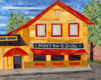 MIKE's BAR & GRILLE  8x10 quality print