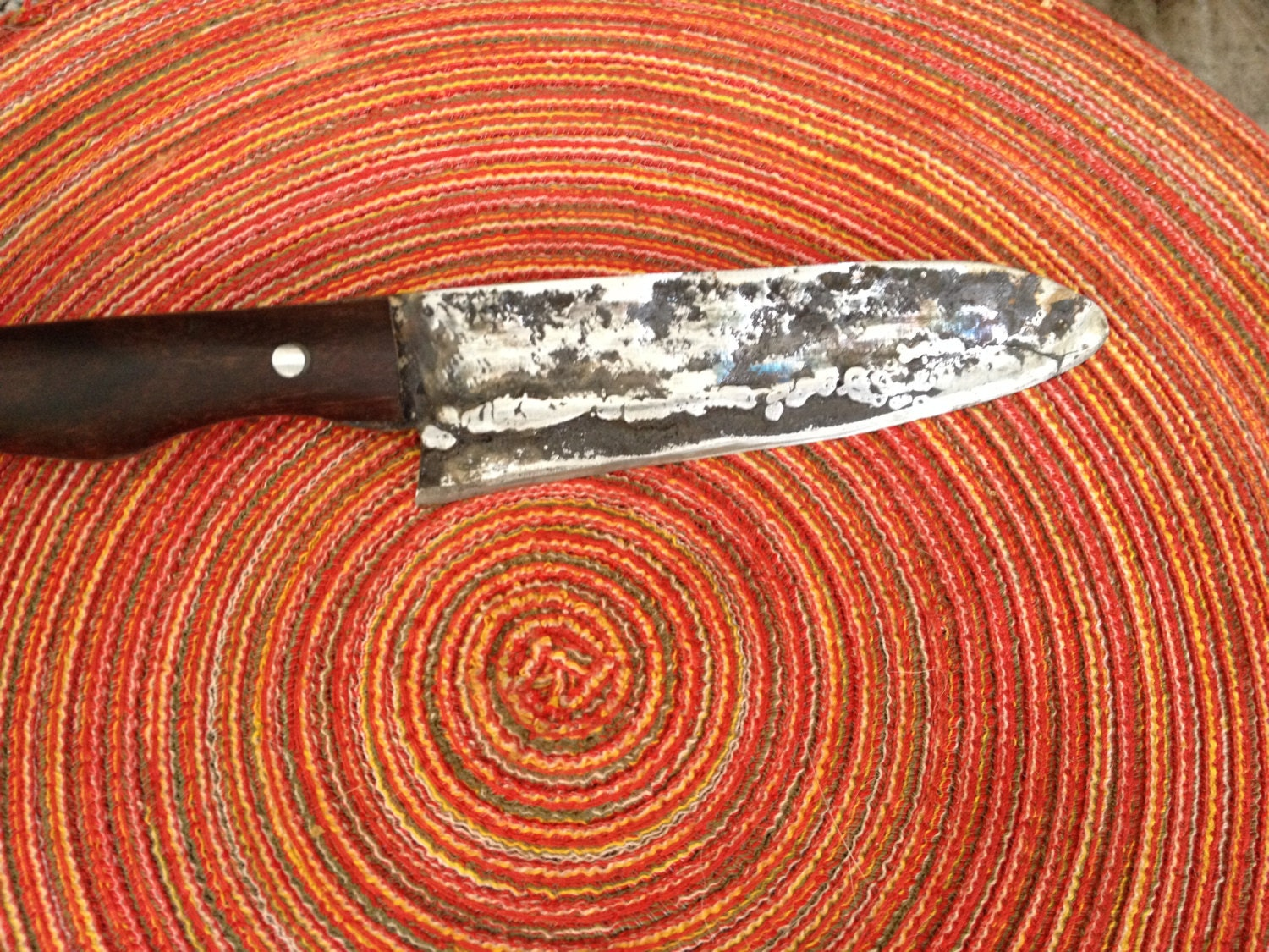 hand forged kitchen knife japanese style kitchen knife blacksmith made and forged by