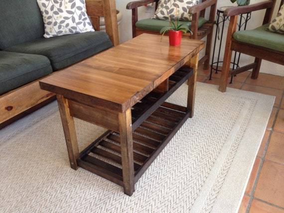 Reclaimed Wood Butcher Block Coffee Table By Fitzwoodworks On Etsy