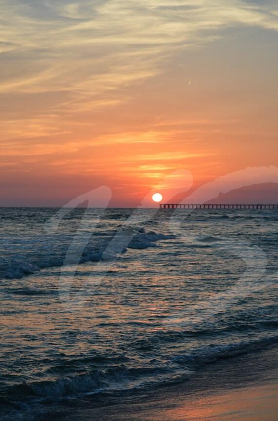 Beautiful sunset over Panama City Beach Florida
