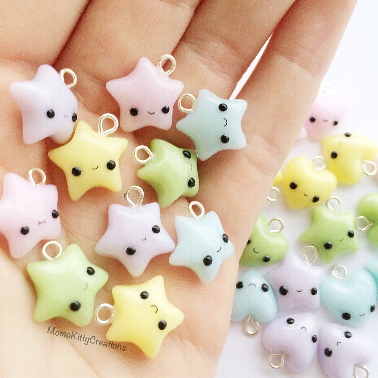 Polymer clay star charm polymer clay charms by for Cute things to make out of clay