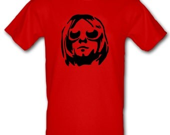 KURT COBAIN Nirvana Grunge Stencil Art 100% Cotton t-shirt All Sizes Small - XXL (kids and adults)