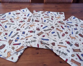 Cabin Theme Placemats (4) CP39 Shipping included