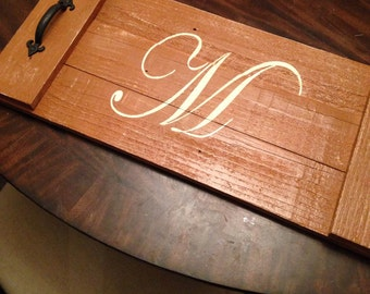 Handemade wooden trays give your home that cozy feel. Customized to add that personal touch