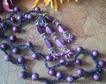 Pretty in Purple crocheted necklace