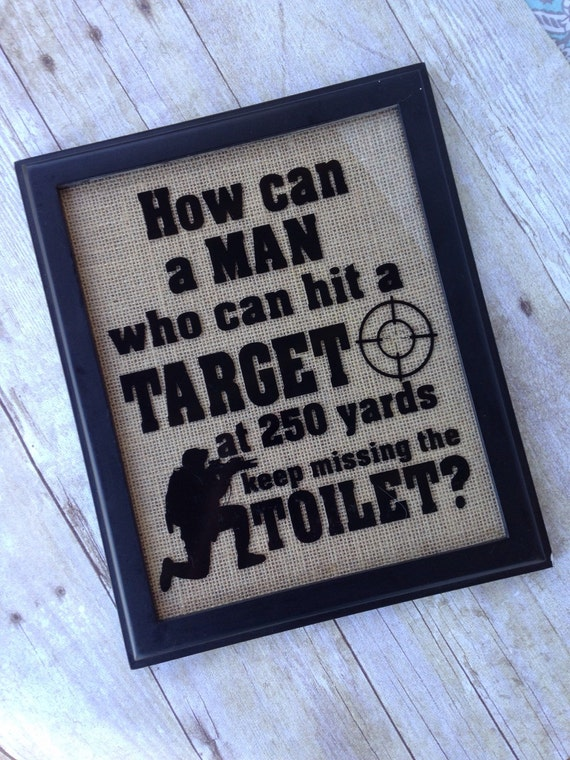 Man Cave Bathroom Signs : Soldier target bathroom sign custom man cave gift for