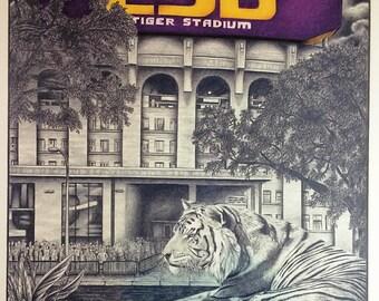 Guarding LSU Tiger Stadium