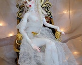 "Made to Order 1/2 Down 15 in Ball jointed doll ""Shri"" resin handmade BJD doll by Jennifer Sutherland Rococo sold nude"