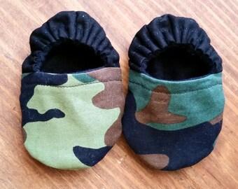 Camouflage Handmade Baby Booties