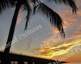 10x10 Seven Mile Bridge in Florida Keys Sunset Photograph