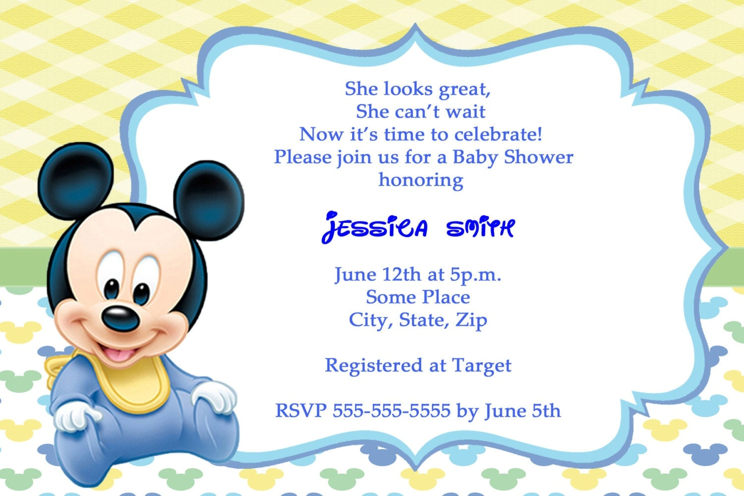 Baby Mickey Mouse Baby Shower Invitations absolutely amazing ideas for your invitation example