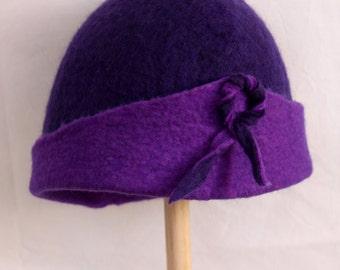 Felted hat. Single model