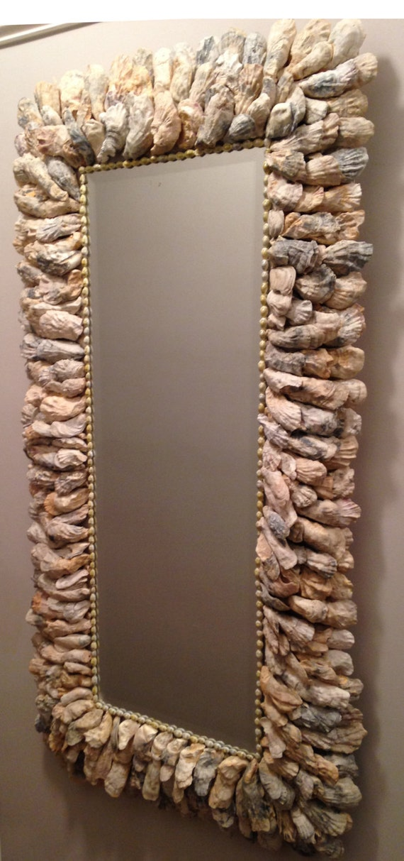 oyster shell decor large oyster shell mirror 28 x 52 1360