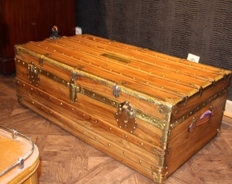 1900's Camphor Wood Cabin Trunk