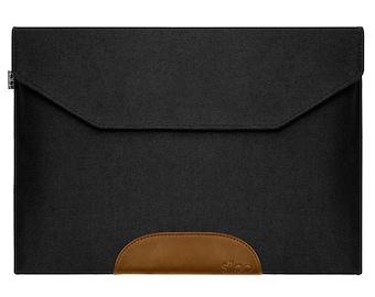 Laptop Sleeve wool felt anthracite Bag Cover Case f. Macbook Air / Pro / Retina etc.