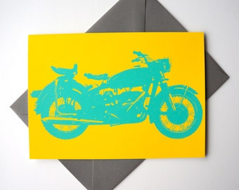 Let's Ride Motorcycle Greeting Card : FREE SHIPPING