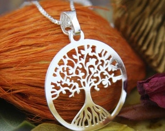 Tree-of-Life Necklace, Sterling Silver Tree of Life Necklaces, Tree of Life Pendant, Tree of Life, Sacred Tree, Family Tree of Life Necklace