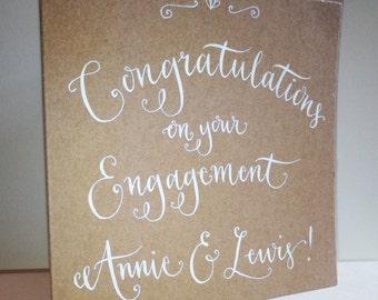 Personalised Engagement Card - Original Calligraphy