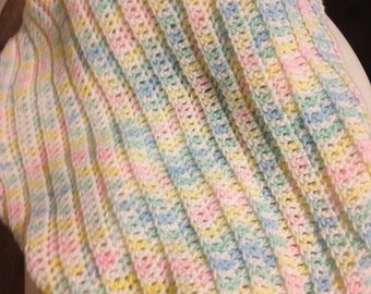 Crocheted Baby Blanket - Many colors to choose from!