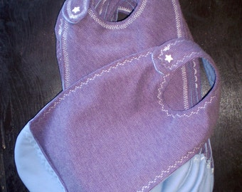 Baby and toddler reversible long terry bib