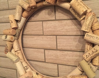 """Whimsical """"Scattered"""" Cork Wreath"""